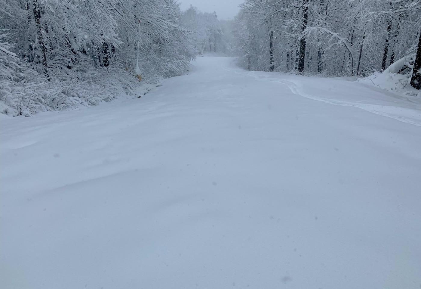 untracked snow