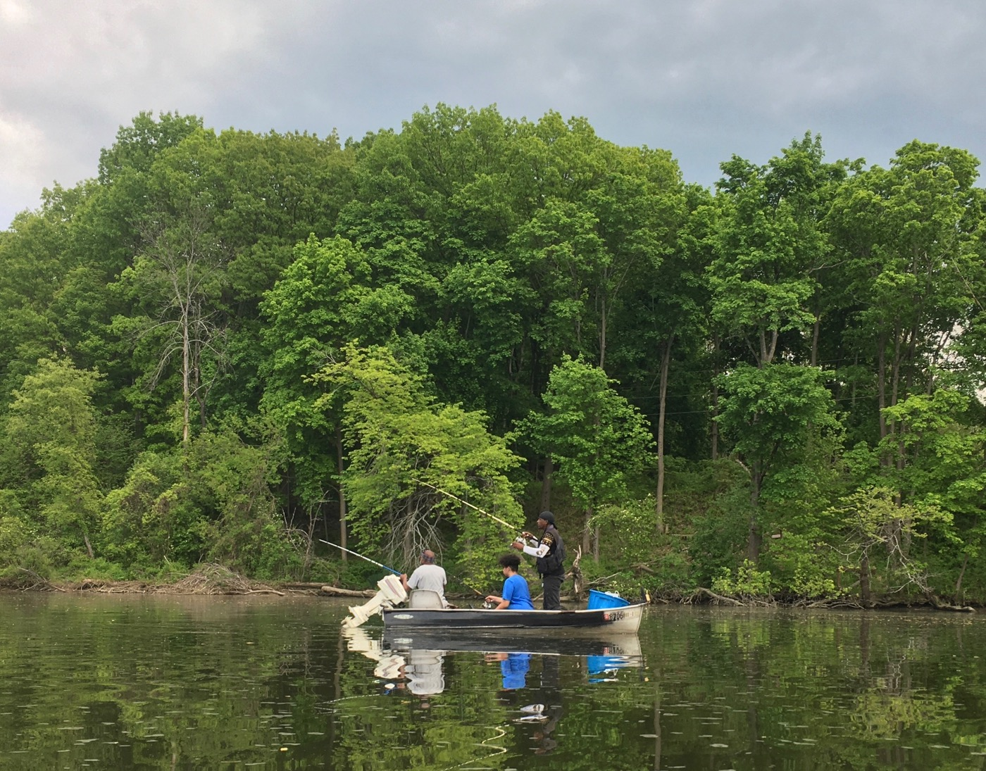 Fishkill Creek fishermen