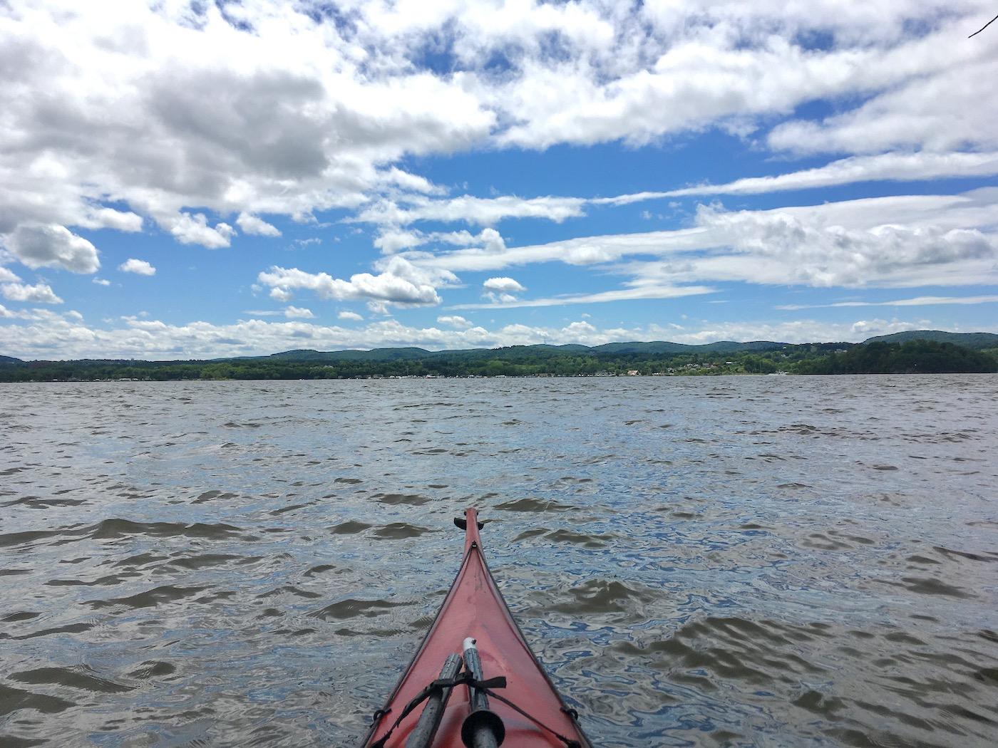 kayaking on the Hudson River