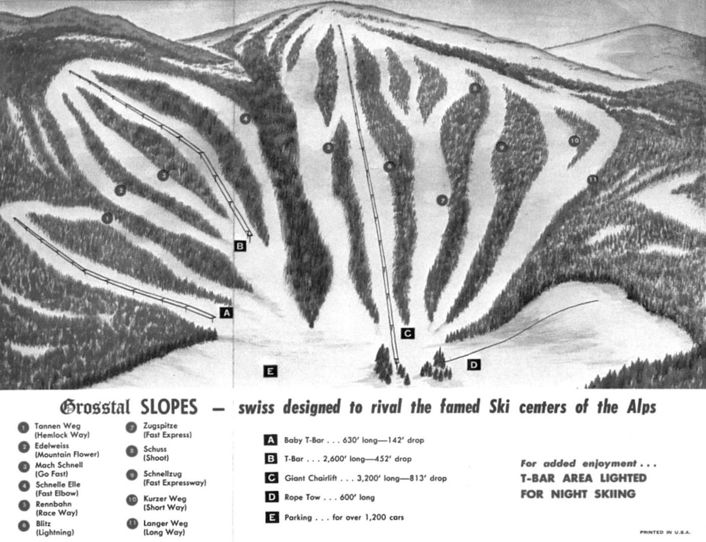 Grosstal trail map
