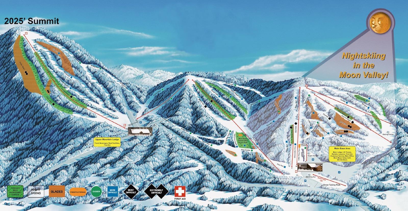 Titus Mountain trail map