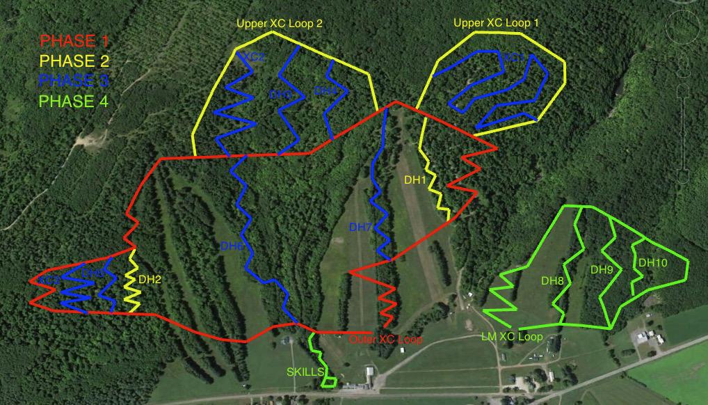 Snow Ridge MTB Map